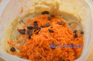eggless banana cake with carrot and raisins4