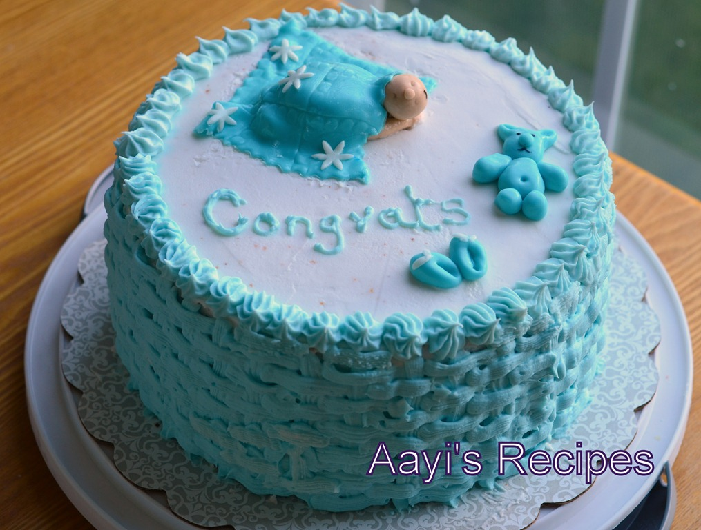 Sleeping Baby Under Blanket – Baby Shower Cake
