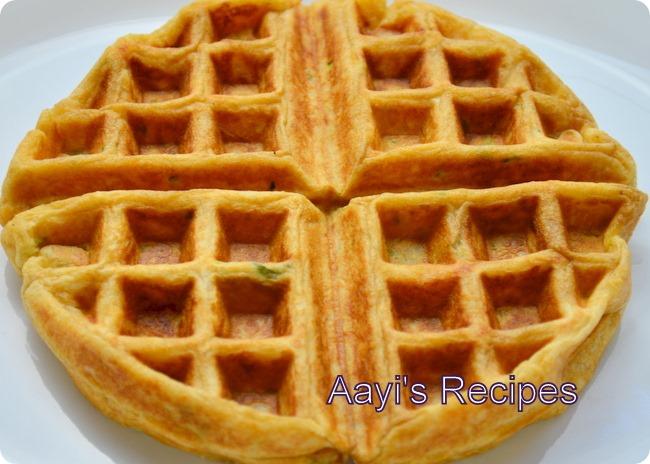 wheat flax zucchini waffles6