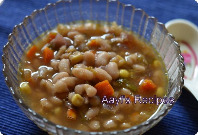 white bean veg chili