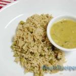 Sprouted moong daal side dish ( Muga moLe randayi)