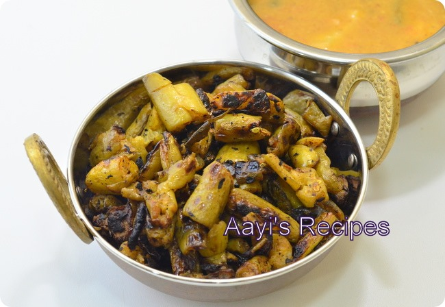 Fried ivy gourds(Tendli talasani)