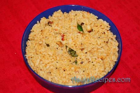 Rice with coconut masala(Chitranna with coconut masala)
