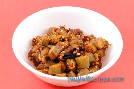 Okra with kokum (Sola bhende)