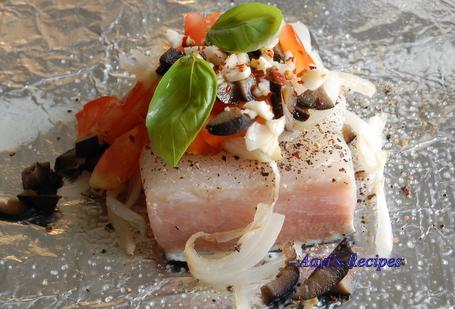Baked halibut