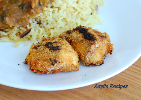chicken rava fry