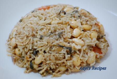 Methi-Avarekalu Rice