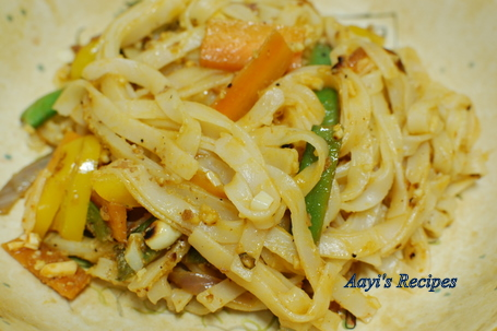 Spicy Vegetable Noodles Aayis Recipes