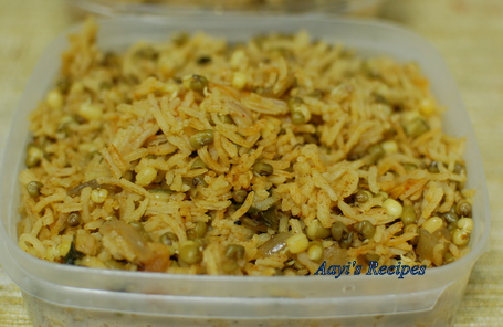 sprouted moong pulav