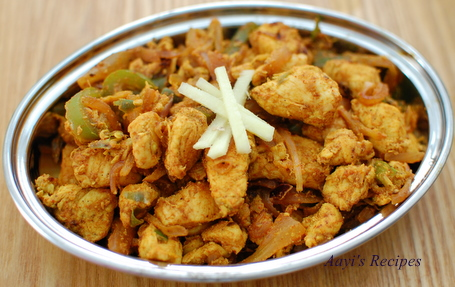 Chilli-Ginger Chicken - Aayis Recipes