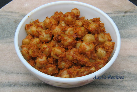Spicy Chickpeas (Chana Usli)