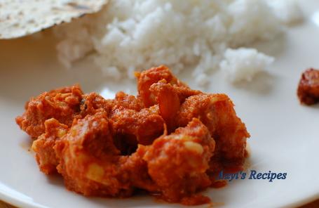 Prawns In Spicy Coconut Sauce (Sungta Sukke/Dhoddak)