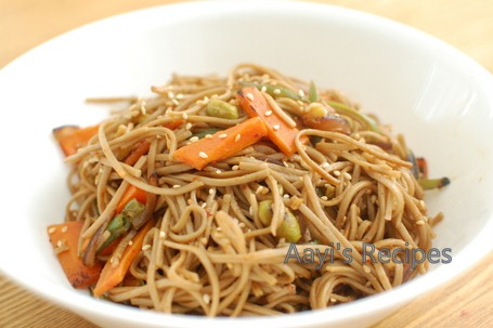 noodles with hm sauce