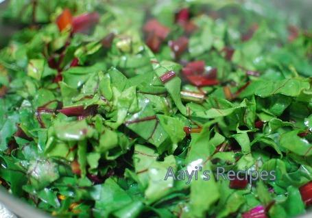 beetroot leaves masoor dal sidedish3