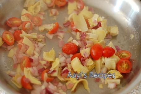 pasta with artichokes2