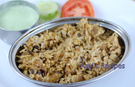 Black Eyed Beans – Plantain Pulav with Mint Chutney