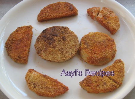 Shallow Fried Colocasia Tuber (Maaddi Phodi)