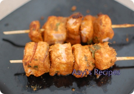 spicy salmon kabab