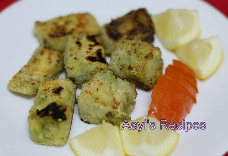 Fried Salmon With Green Masala