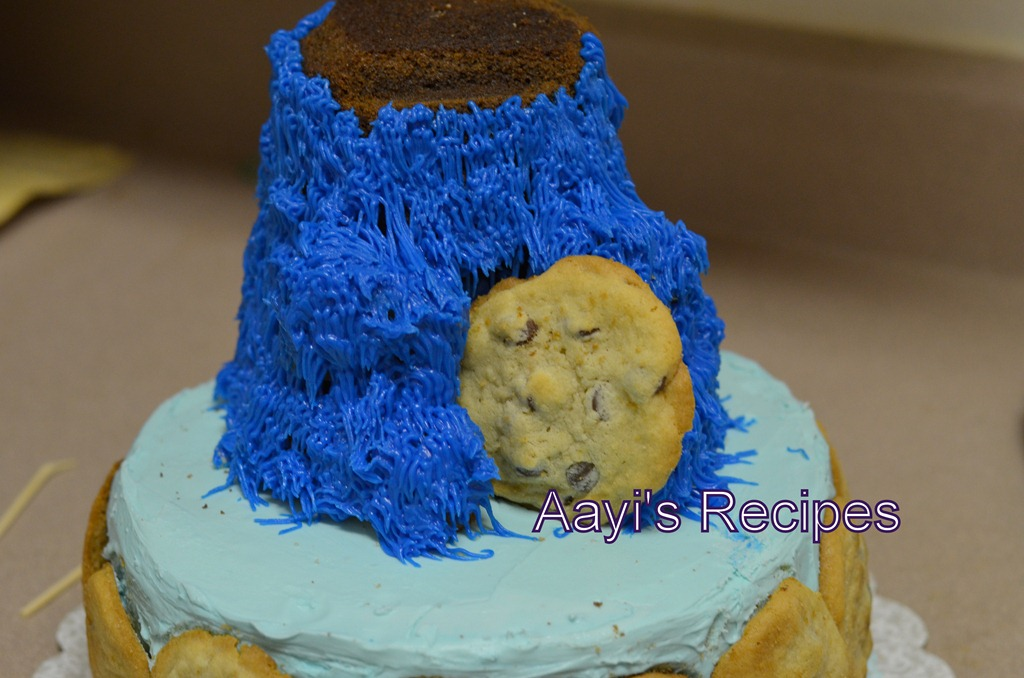 Cookie Monster Cake Icing Color