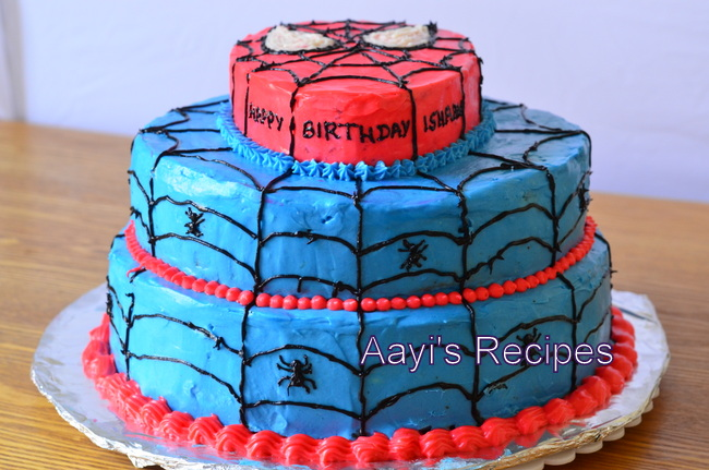 spiderman cake1