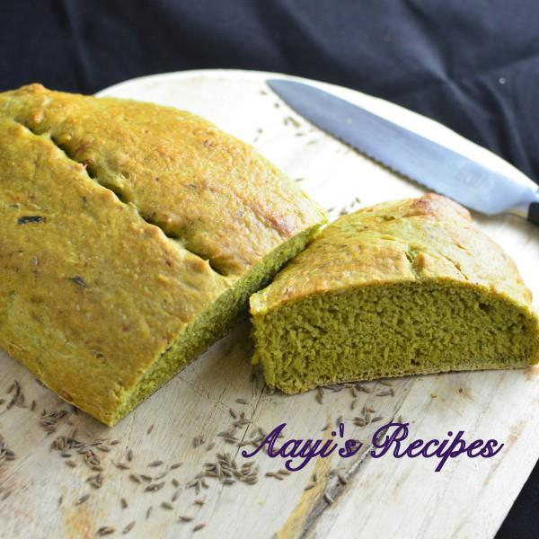 spinach-cumin seed bread