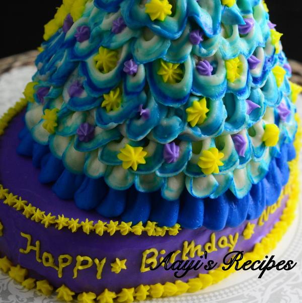 blue princess cake2