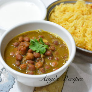 Black Chickpeas in Green Masasla(Kala Chana Hara Masala)