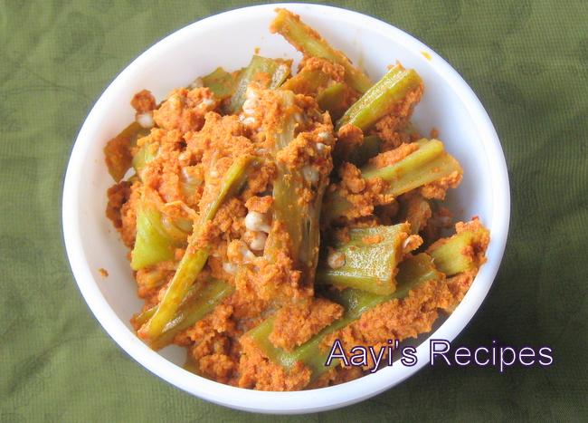 Okra in Coconut Sauce (Bhende Sukke)