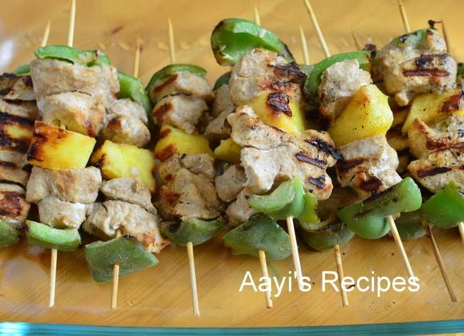 Grilled Chicken-Vegetable Kababs